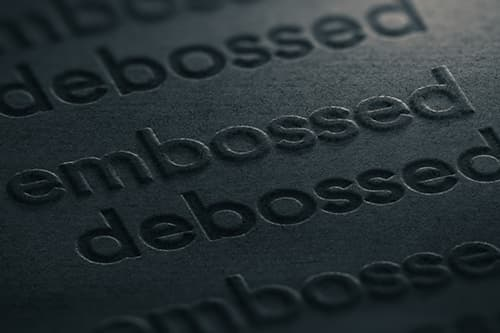 Embossing and Debossing