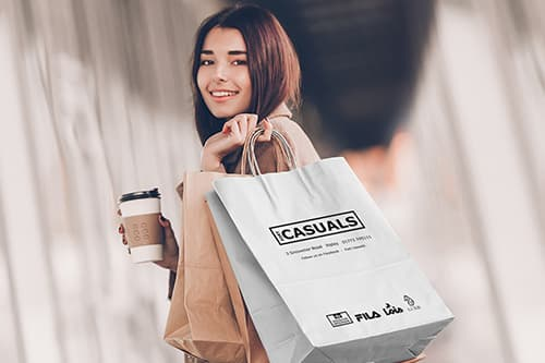 Fort Casuals White Paper Bags
