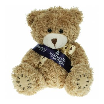 Mocha Paw Bear with Sash