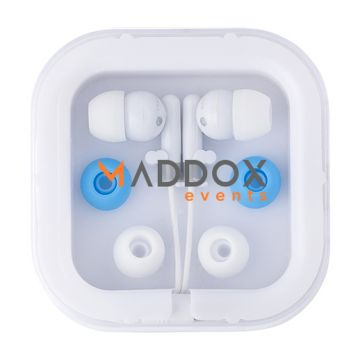 Earphones with Plastic Case