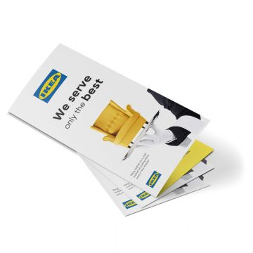 A4 Strip Fold Leaflets