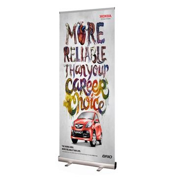 Silver Pull Up Roller Banners