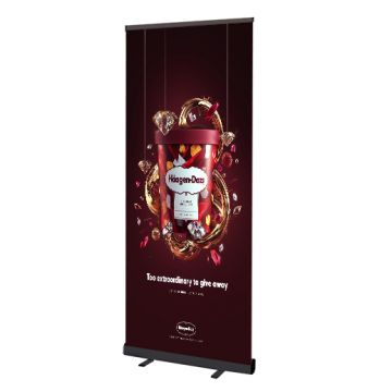Black Pull Up Roller Banners