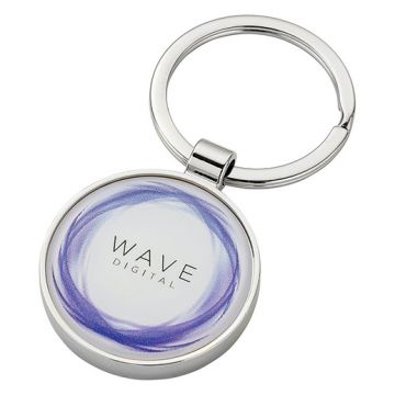 Round Alloy Injection Keyring
