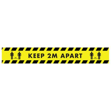2M Distance Stair Stickers