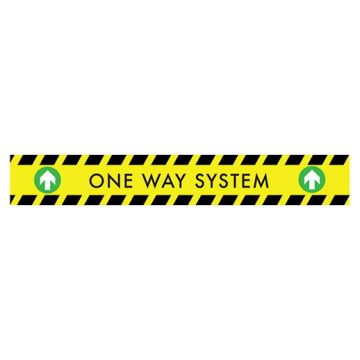 Green Arrow One Way Stair Stickers