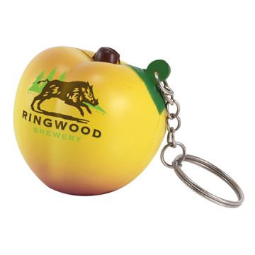 Stress Peach Keyring