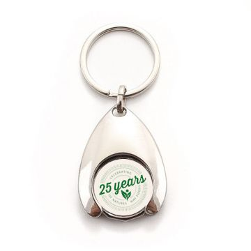 Wishbone Trolley Coin Keyring