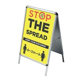 Pre-Printed Stop The Spread A Frame Board